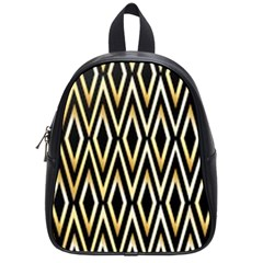 Gold,black,art Deco Pattern School Bag (small) by 8fugoso