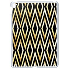 Gold,black,art Deco Pattern Apple Ipad Pro 9 7   White Seamless Case by 8fugoso