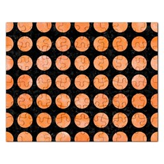 Circles1 Black Marble & Orange Watercolor (r) Rectangular Jigsaw Puzzl by trendistuff