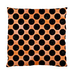 Circles2 Black Marble & Orange Watercolor Standard Cushion Case (one Side) by trendistuff