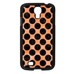 Circles2 Black Marble & Orange Watercolor Samsung Galaxy S4 I9500/ I9505 Case (black) by trendistuff