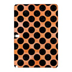 Circles2 Black Marble & Orange Watercolor Samsung Galaxy Tab Pro 12 2 Hardshell Case by trendistuff