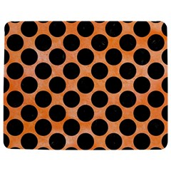 Circles2 Black Marble & Orange Watercolor Jigsaw Puzzle Photo Stand (rectangular) by trendistuff