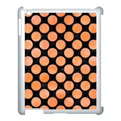 Circles2 Black Marble & Orange Watercolor (r) Apple Ipad 3/4 Case (white)