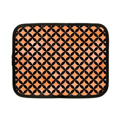 Circles3 Black Marble & Orange Watercolor Netbook Case (small)  by trendistuff