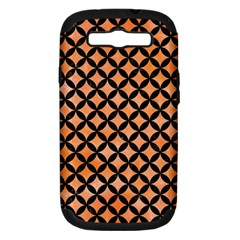 Circles3 Black Marble & Orange Watercolor Samsung Galaxy S Iii Hardshell Case (pc+silicone) by trendistuff
