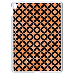 Circles3 Black Marble & Orange Watercolor Apple Ipad Pro 9 7   White Seamless Case by trendistuff