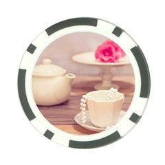 High Tea, Shabby Chic Poker Chip Card Guard (10 Pack) by 8fugoso