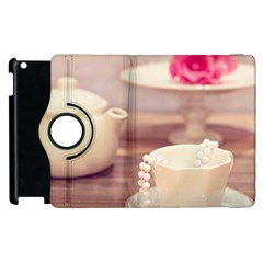 High Tea, Shabby Chic Apple Ipad 2 Flip 360 Case by 8fugoso