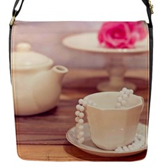 High Tea, Shabby Chic Flap Messenger Bag (s) by 8fugoso