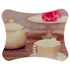High Tea, Shabby Chic Jigsaw Puzzle Photo Stand (bow) by 8fugoso