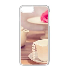 High Tea, Shabby Chic Apple Iphone 7 Plus White Seamless Case