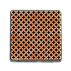 Circles3 Black Marble & Orange Watercolor (r) Memory Card Reader (square) by trendistuff