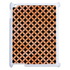 Circles3 Black Marble & Orange Watercolor (r) Apple Ipad 2 Case (white) by trendistuff