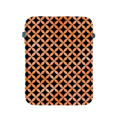 Circles3 Black Marble & Orange Watercolor (r) Apple Ipad 2/3/4 Protective Soft Cases by trendistuff