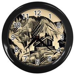 Ink Art Wall Clocks (black) by 8fugoso