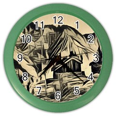 Ink Art Color Wall Clocks by 8fugoso