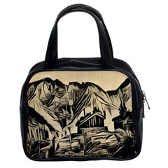 Ink Art Classic Handbags (2 Sides) by 8fugoso