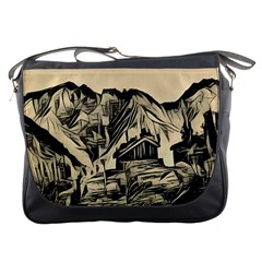 Ink Art Messenger Bags by 8fugoso
