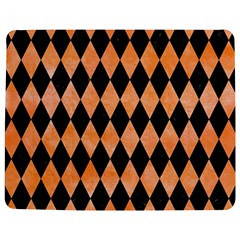 Diamond1 Black Marble & Orange Watercolor Jigsaw Puzzle Photo Stand (rectangular) by trendistuff