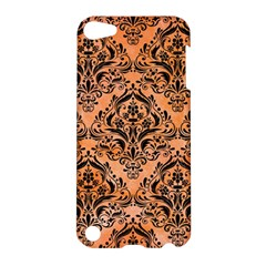 Damask1 Black Marble & Orange Watercolor Apple Ipod Touch 5 Hardshell Case by trendistuff