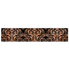 Damask1 Black Marble & Orange Watercolor (r) Flano Scarf (small) by trendistuff