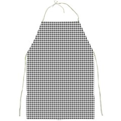Classic Vintage Black And White Houndstooth Pattern Full Print Apron by Beachlux