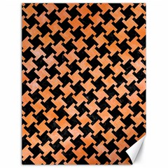 Houndstooth2 Black Marble & Orange Watercolor Canvas 18  X 24   by trendistuff