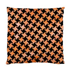 Houndstooth2 Black Marble & Orange Watercolor Standard Cushion Case (two Sides) by trendistuff