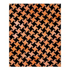 Houndstooth2 Black Marble & Orange Watercolor Shower Curtain 60  X 72  (medium)  by trendistuff