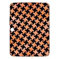 Houndstooth2 Black Marble & Orange Watercolor Samsung Galaxy Tab 3 (10 1 ) P5200 Hardshell Case  by trendistuff