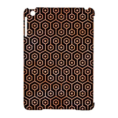 Hexagon1 Black Marble & Orange Watercolor (r) Apple Ipad Mini Hardshell Case (compatible With Smart Cover) by trendistuff