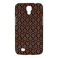 Hexagon1 Black Marble & Orange Watercolor (r) Samsung Galaxy Mega 6 3  I9200 Hardshell Case by trendistuff