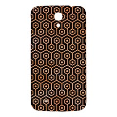 Hexagon1 Black Marble & Orange Watercolor (r) Samsung Galaxy Mega I9200 Hardshell Back Case by trendistuff