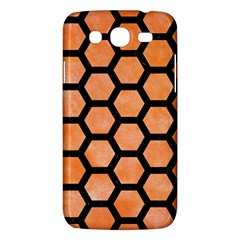 Hexagon2 Black Marble & Orange Watercolor Samsung Galaxy Mega 5 8 I9152 Hardshell Case  by trendistuff