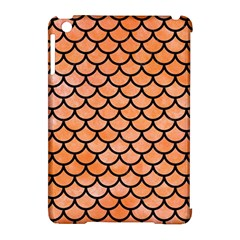 Scales1 Black Marble & Orange Watercolor Apple Ipad Mini Hardshell Case (compatible With Smart Cover) by trendistuff