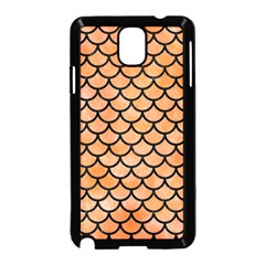 Scales1 Black Marble & Orange Watercolor Samsung Galaxy Note 3 Neo Hardshell Case (black) by trendistuff
