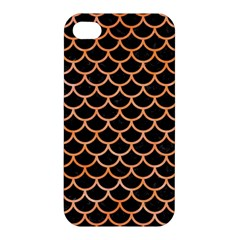 Scales1 Black Marble & Orange Watercolor (r) Apple Iphone 4/4s Hardshell Case by trendistuff