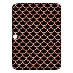 Scales1 Black Marble & Orange Watercolor (r) Samsung Galaxy Tab 3 (10 1 ) P5200 Hardshell Case  by trendistuff