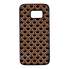 Scales2 Black Marble & Orange Watercolor (r) Samsung Galaxy S7 Black Seamless Case