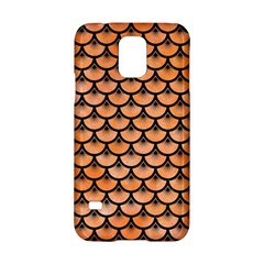 Scales3 Black Marble & Orange Watercolor Samsung Galaxy S5 Hardshell Case  by trendistuff