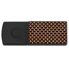 Scales3 Black Marble & Orange Watercolor (r) Rectangular Usb Flash Drive by trendistuff