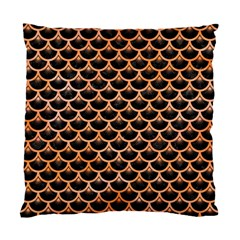 Scales3 Black Marble & Orange Watercolor (r) Standard Cushion Case (one Side) by trendistuff