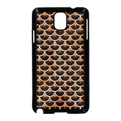Scales3 Black Marble & Orange Watercolor (r) Samsung Galaxy Note 3 Neo Hardshell Case (black) by trendistuff