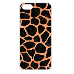 Skin1 Black Marble & Orange Watercolor Apple Iphone 5 Seamless Case (white) by trendistuff