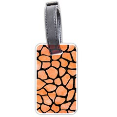 Skin1 Black Marble & Orange Watercolor (r) Luggage Tags (one Side)  by trendistuff