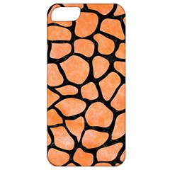 Skin1 Black Marble & Orange Watercolor (r) Apple Iphone 5 Classic Hardshell Case by trendistuff