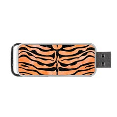 Skin2 Black Marble & Orange Watercolor Portable Usb Flash (two Sides) by trendistuff