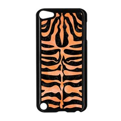 Skin2 Black Marble & Orange Watercolor (r) Apple Ipod Touch 5 Case (black) by trendistuff