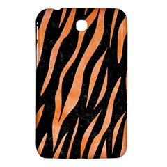 Skin3 Black Marble & Orange Watercolor (r) Samsung Galaxy Tab 3 (7 ) P3200 Hardshell Case  by trendistuff